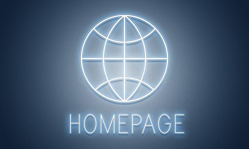 Concept en ligne d'Internet de page d'accueil de HTTP illustration libre de droits