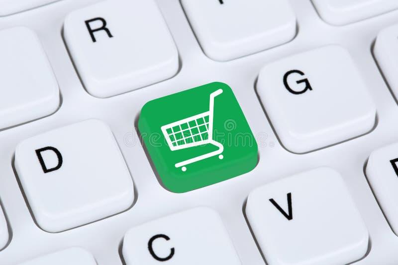 Concept en ligne de boutique d'Internet de commerce électronique d'achats photo stock