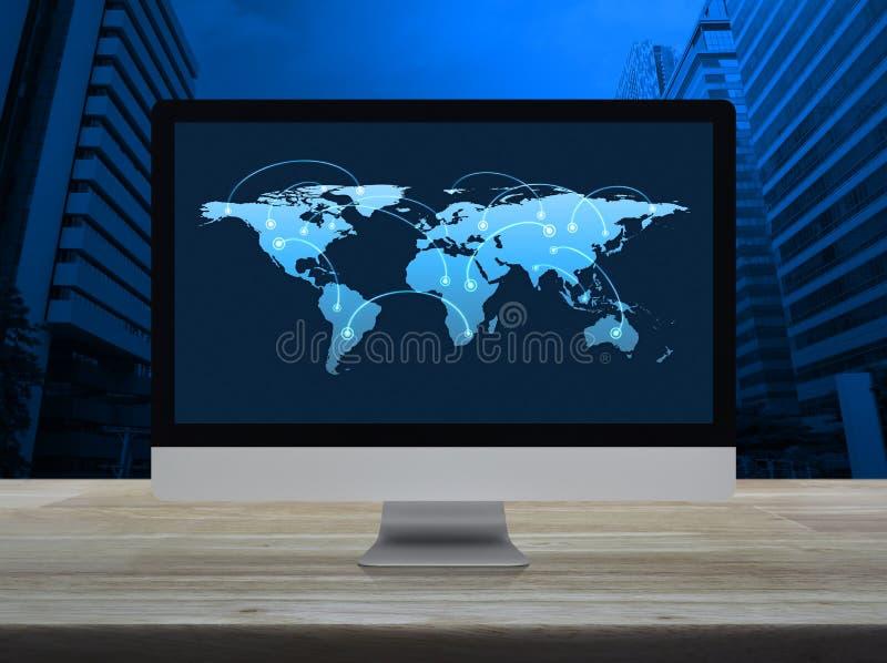 Concept en ligne de communication d'affaires, éléments de ce fu d'image photographie stock libre de droits
