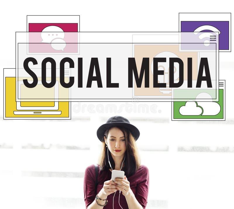 Concept en ligne de connexion de mise en réseau de technologie des communications photos libres de droits