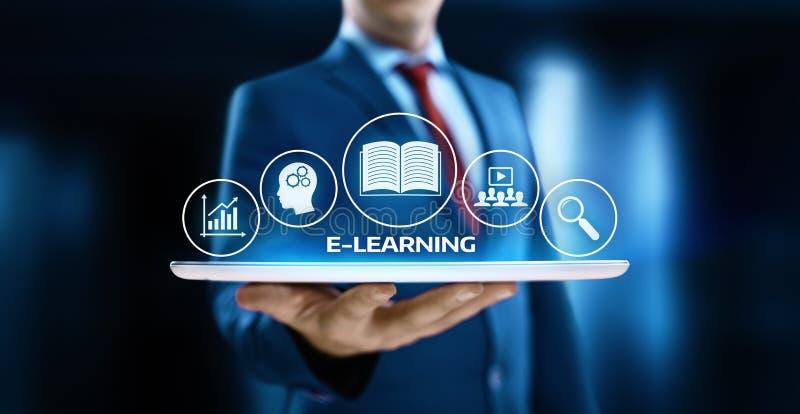 Concept en ligne de cours de Webinar de technologie d'Internet d'éducation d'apprentissage en ligne photographie stock