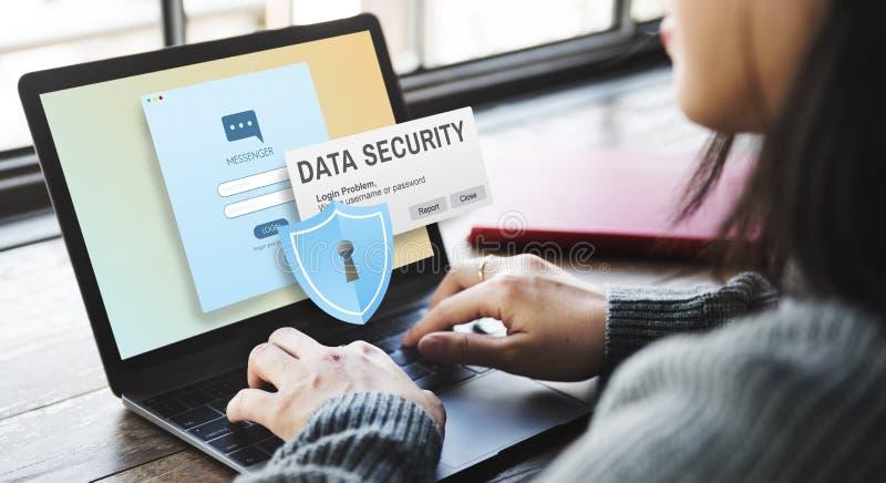 Concept en ligne de Digital Intenret Phishing de protection des données images stock