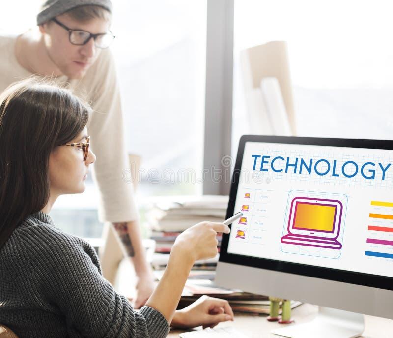 Concept en ligne de mise en réseau d'Internet de technologie photos stock