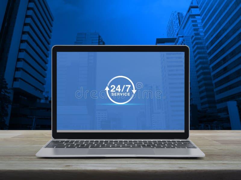 Concept en ligne de service à plein temps d'affaires photographie stock