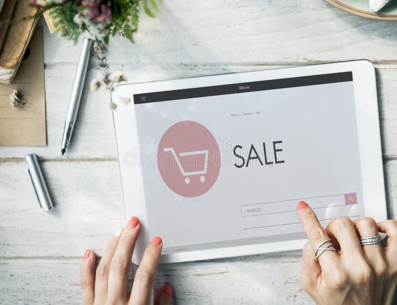 Concept en ligne de vente de page d'accueil de boutique de commerce électronique image stock
