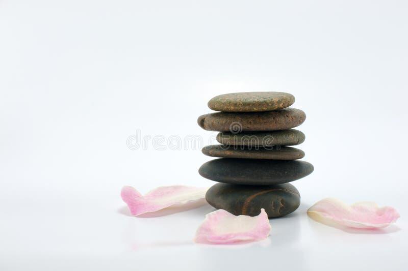 Concept en pierre de station thermale de zen images libres de droits