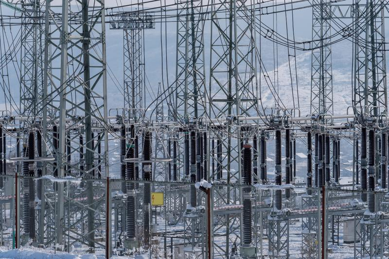 Concept. Energy cost savings. New electricity price forecasts royalty free stock photography