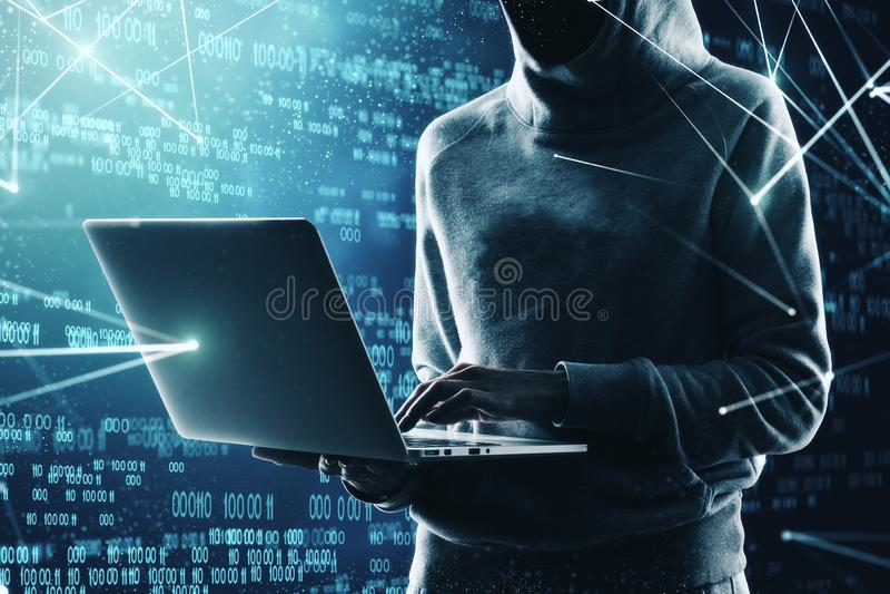 Concept entaillant et phishing photographie stock