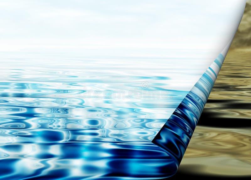 Concept environnemental, protection de la nappe phréatique illustration stock