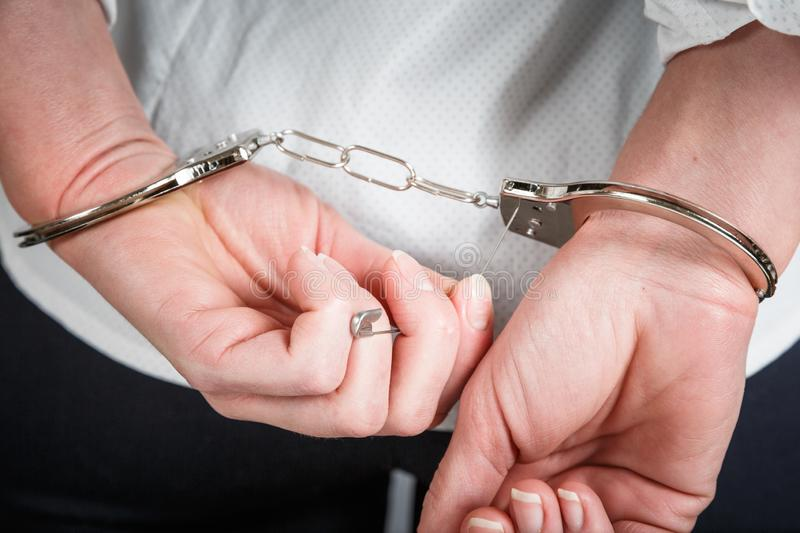 The concept of escape from the arrest stock photo