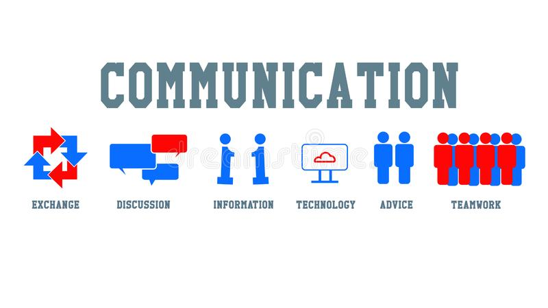 concept et icône de communiction illustration libre de droits