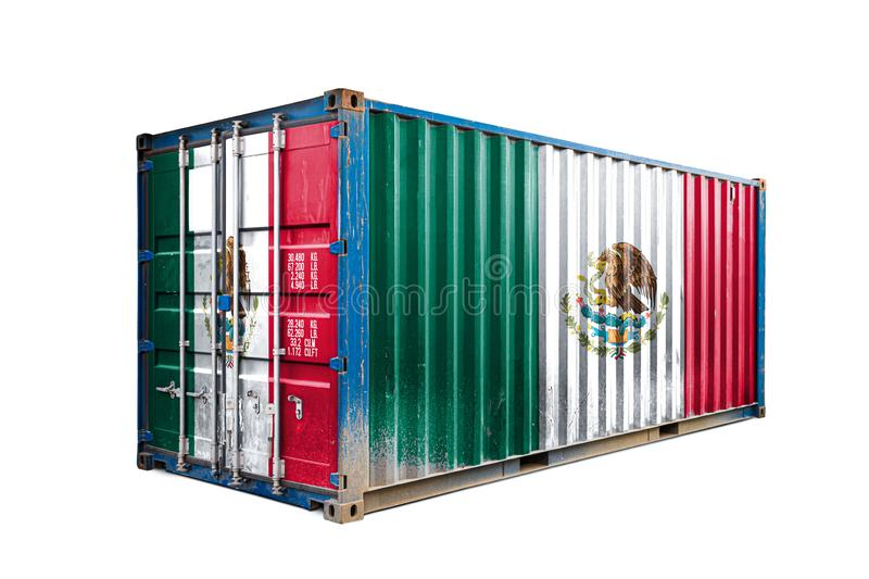The concept of  export-import stock photo