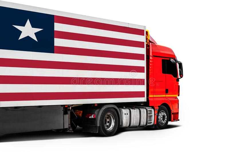 Concept of export-import,transportation, national delivery of goods royalty free stock photos