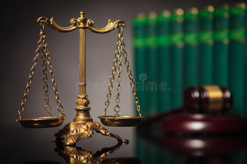 Concept of fair law and justice royalty free stock photo