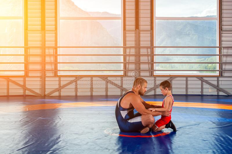 The concept of fair wrestling. royalty free stock images