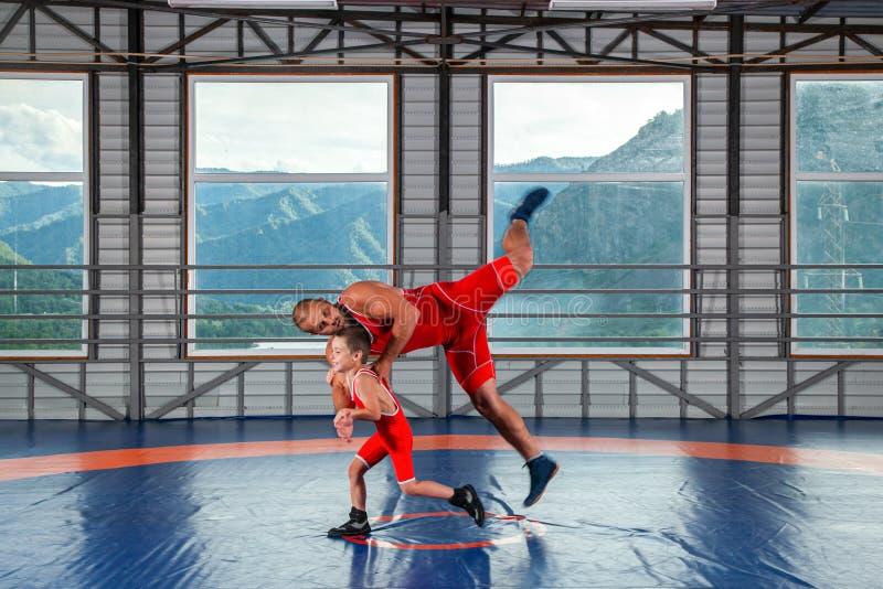 The concept of fair wrestling. stock photos