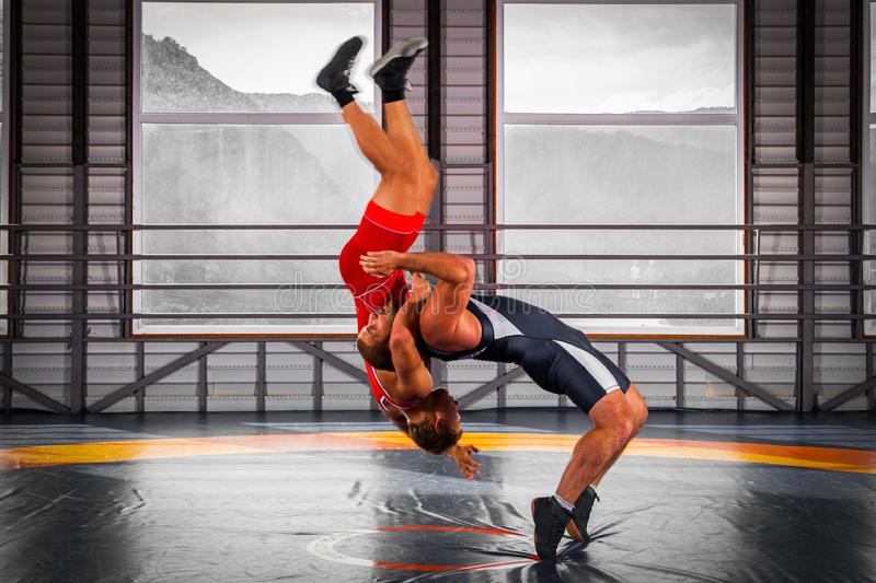 The concept of fair wrestling. royalty free stock photography