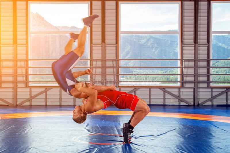 The concept of fair wrestling. royalty free stock photos
