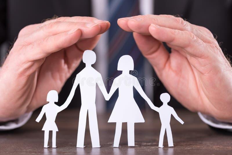 Concept familieverzekering stock fotografie