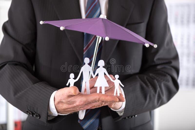 Concept familieverzekering royalty-vrije stock foto's