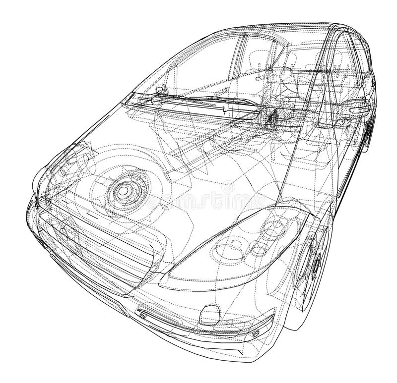 Concept of family car stock image. Image of engineering - 113631607
