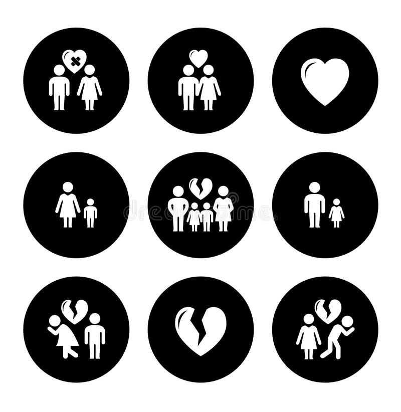 Concept family help icons stock illustration