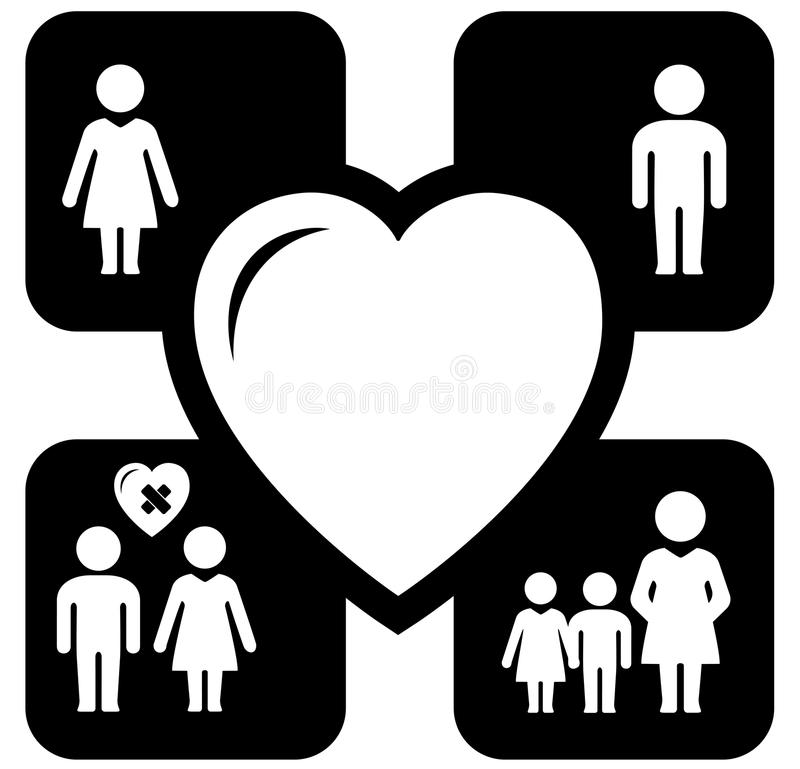 Concept family icons vector illustration
