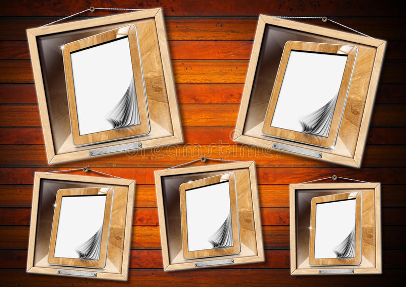 Concept Of Family Library - Tablet Computer Royalty Free Stock Photos
