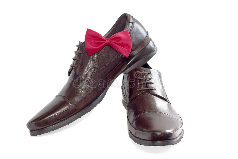 Concept of a fashion for the man - shoes stock images