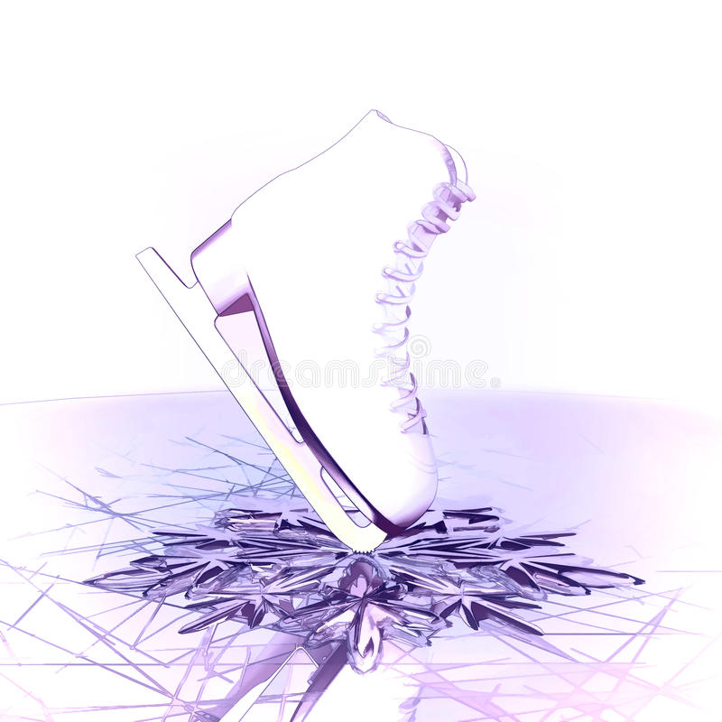 Concept of figure skating. stock images