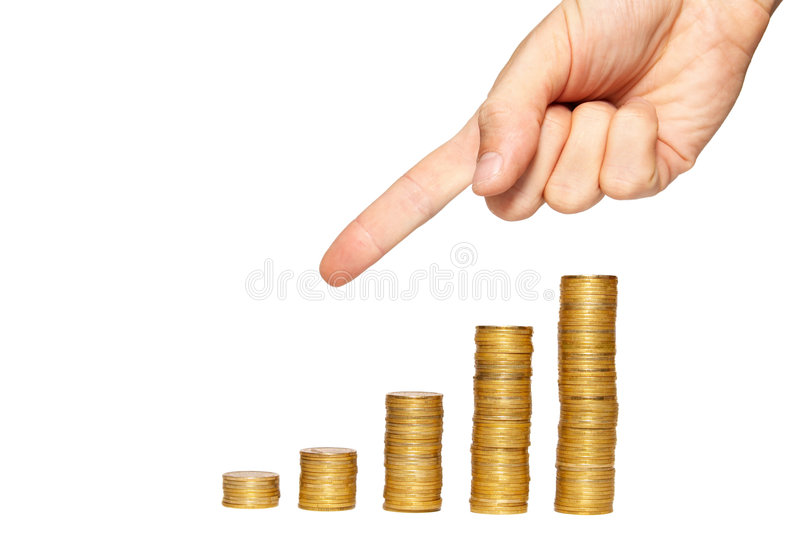 Concept of finance regression stock photography