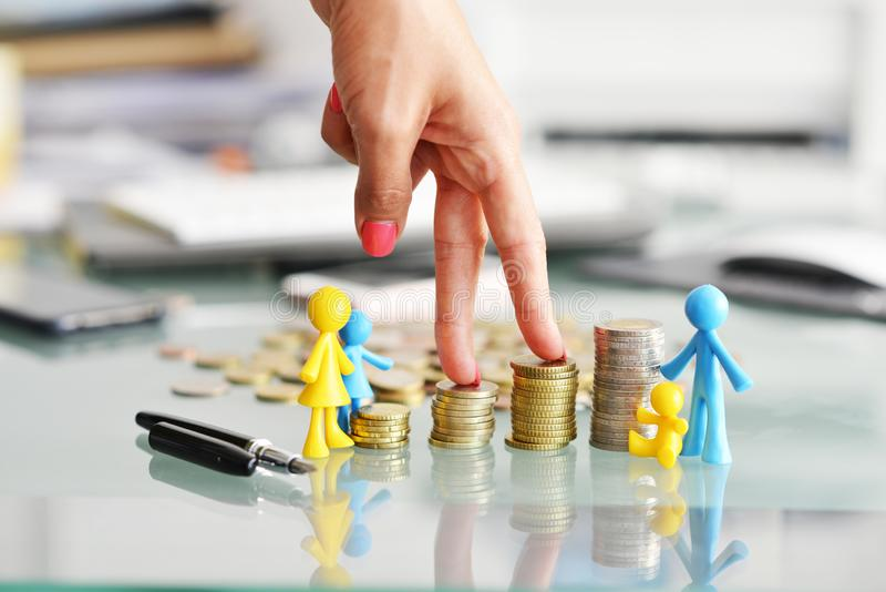 Concept of financial education for children royalty free stock photography
