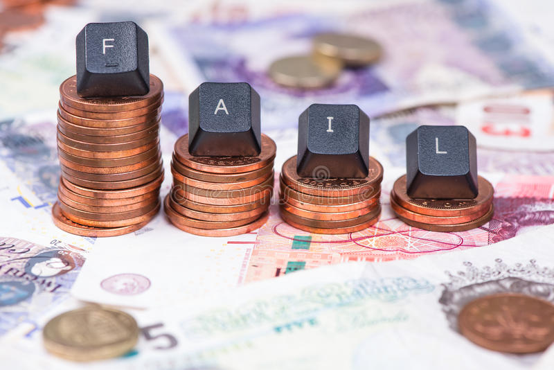 Concept of financial fail background royalty free stock images