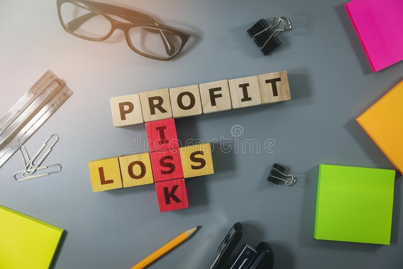 Concept of financial risk in business royalty free stock photography