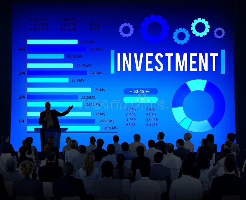 Concept financier d'économie de comptabilité d'argent d'investissement images stock