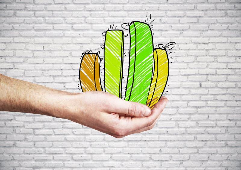 Concept financier d'accroissement illustration de vecteur