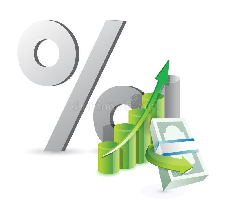 Concept financier d'affaires illustration stock