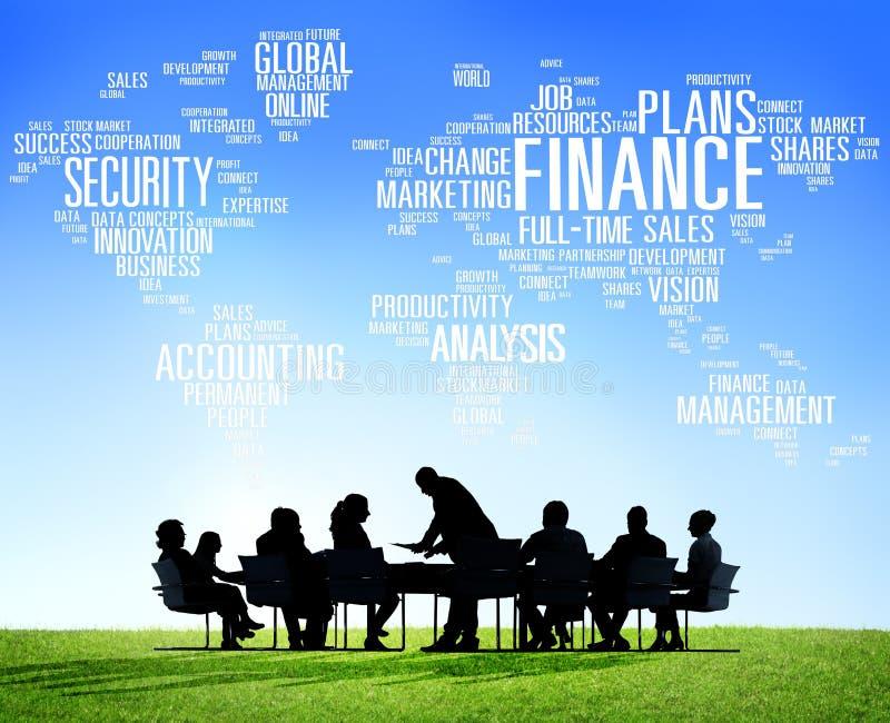 Concept financier d'argent de vente d'affaires globales de finances photos stock