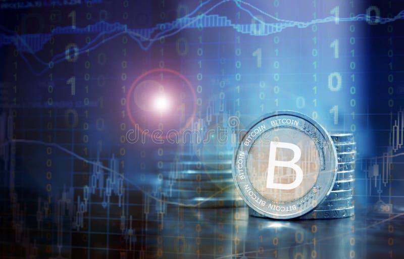 Concept financier de Bitcoin images libres de droits
