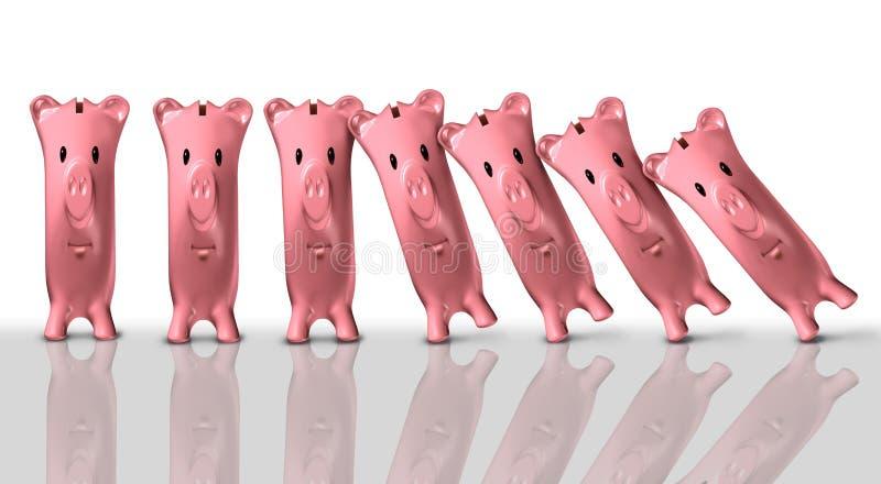 Concept financier de Colapse illustration de vecteur