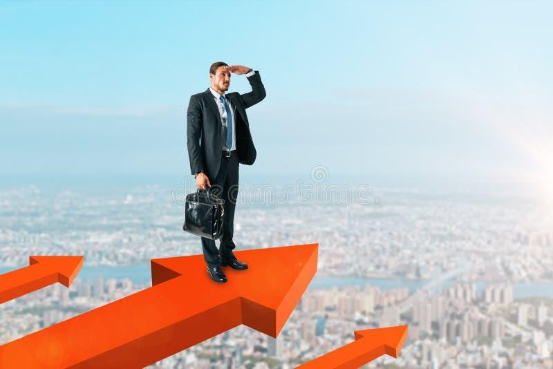 Concept financier de croissance et de vision images stock
