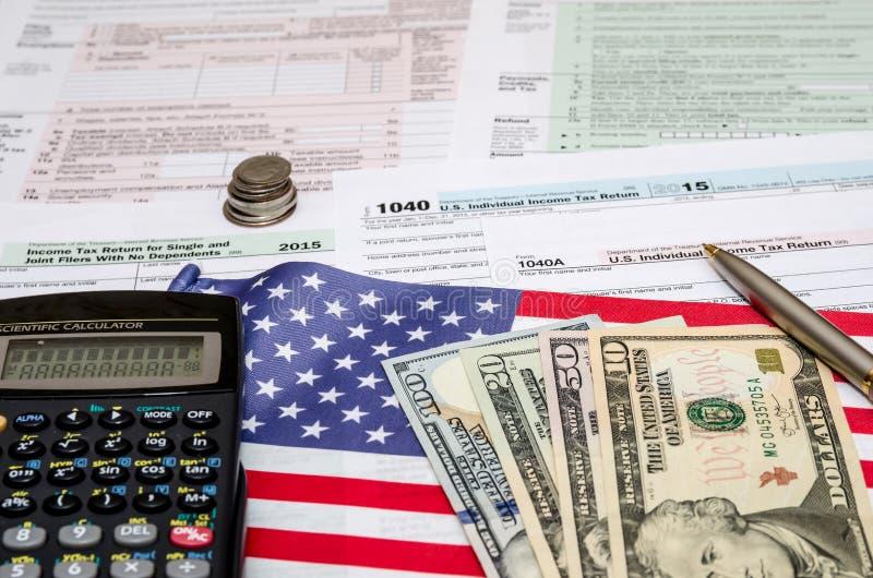 Concept financier de feuille d'impôt  photo libre de droits