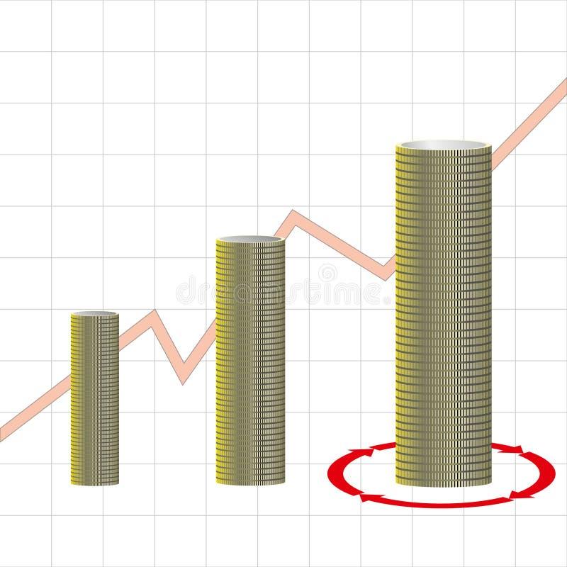Concept financier de réussite illustration de vecteur
