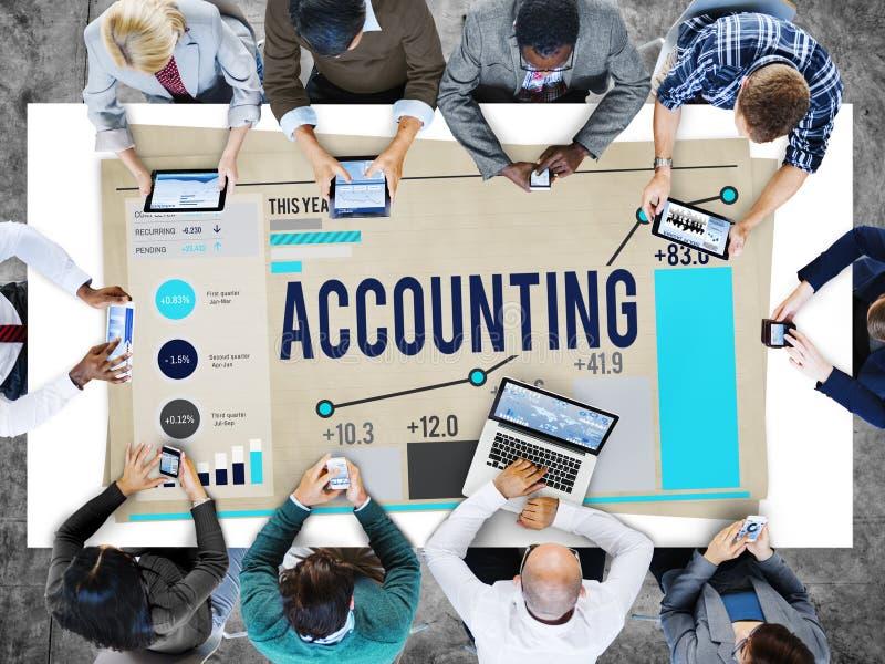 Concept financier de revenu d'opérations bancaires d'économie de comptabilité photos stock