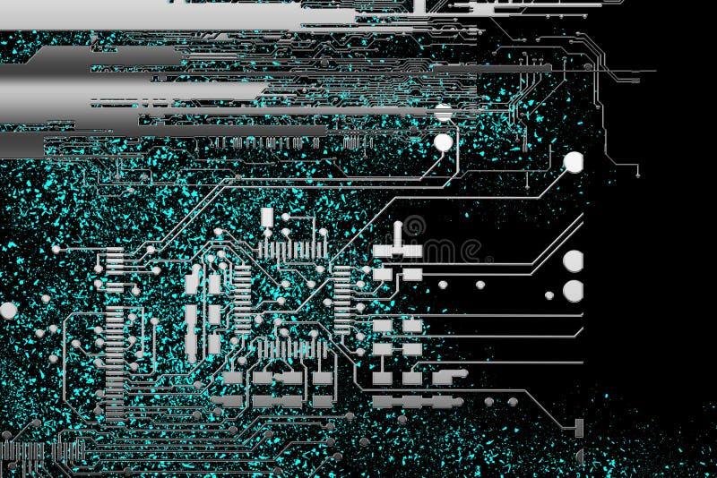 Concept financier de sécurité de réseau de l'espace global de cyber Internet de vitesse rapide illustration de vecteur