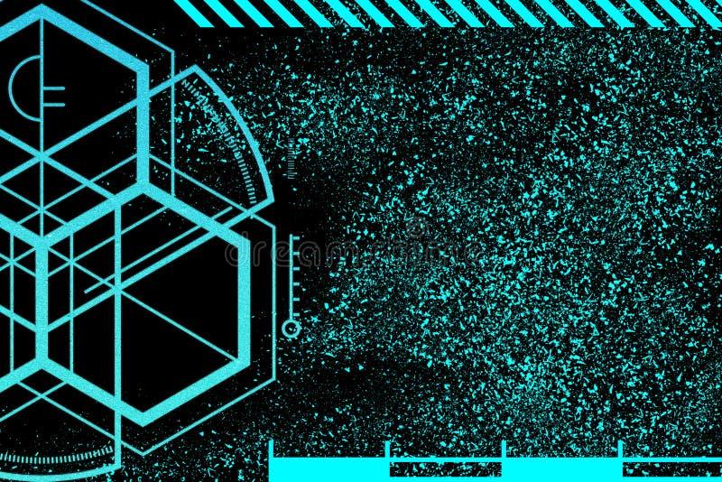 Concept financier de sécurité de réseau de l'espace global de cyber Internet de vitesse rapide illustration libre de droits
