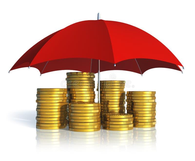 Concept financier de stabilité, de réussite et d'assurance illustration stock