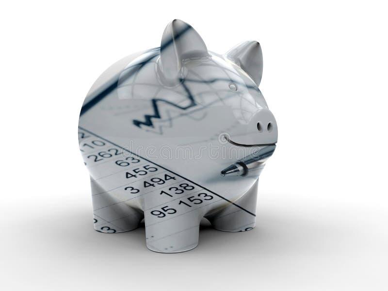 Concept financier de tirelire illustration de vecteur