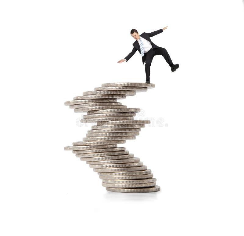 Concept financier et de crise photo stock