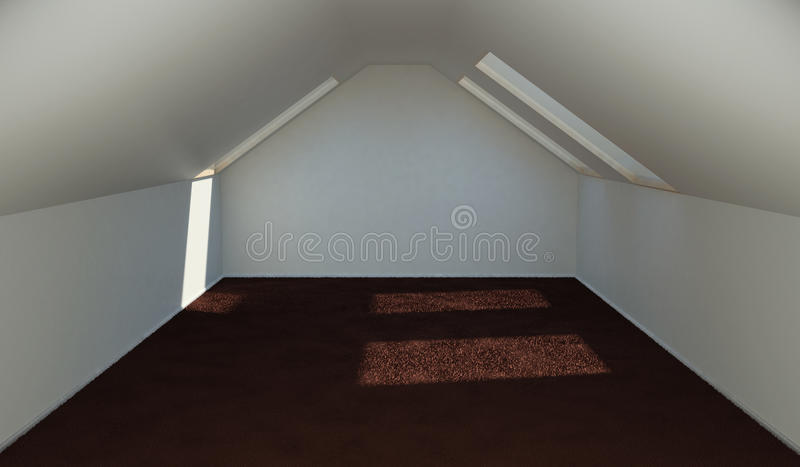 Concept finishing the attic rooms for accommodation. 3d illustration vector illustration